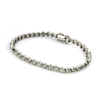 White gold bracelet with diamonds 43633 01