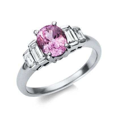 90 kt  színes drágakő 4 gyémánttal