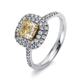 90 kt  több köves gyűrű 53 gyémánttal 1M490P652-1