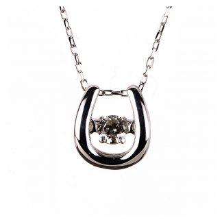 10 kt fehérarany nyaklánc 1 gyémánttal 4A109W0-2