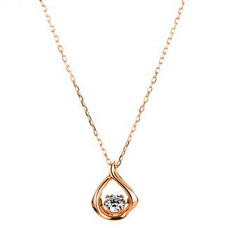 10 kt red gold necklace with 1 diamond 4A118R0-2