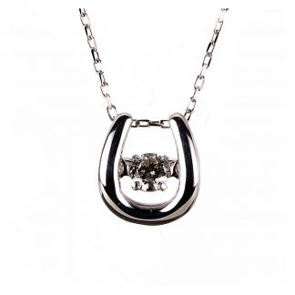 10 kt white gold necklace with 1 diamond 4A109W0-2