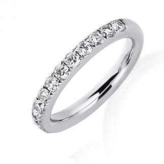 14 kt fehérarany félig köves eternity 13 gyémánttal 1B814W453-1
