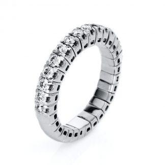14 kt fehérarany félig köves eternity 15 gyémánttal 1J211W454-2
