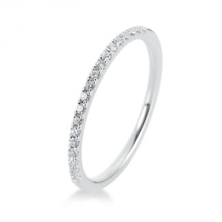 14 kt fehérarany félig köves eternity 19 gyémánttal 1B202W454-9