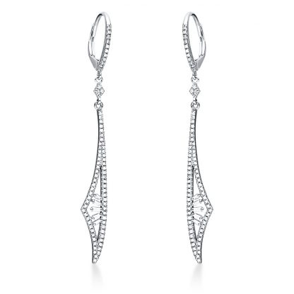 14 kt fehérarany fülbevaló 162 gyémánttal 2I940W4-1