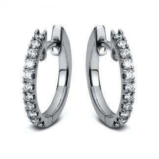 14 kt fehérarany karika és huggie 22 gyémánttal 2A068W4-1