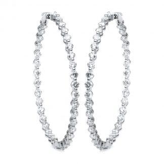 14 kt fehérarany karika és huggie 70 gyémánttal 2D896W4-1