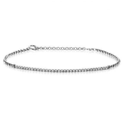 14 kt fehérarany karkötő 33 gyémánttal 5A024W4-1