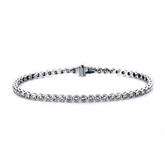 14 kt fehérarany karkötő 53 gyémánttal 5A005W4-2