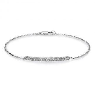 14 kt fehérarany karkötő 76 gyémánttal 5A051W4-1