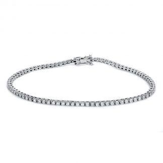 14 kt fehérarany karkötő 84 gyémánttal 5B135W4-1