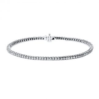 14 kt fehérarany karkötő 96 gyémánttal 5A911W4-1