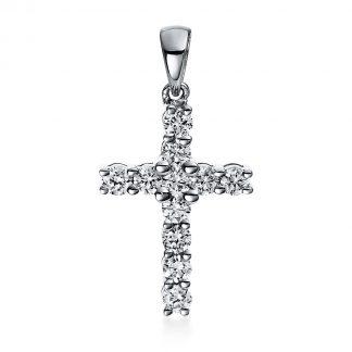 14 kt fehérarany medál 11 gyémánttal 3D081W4-1