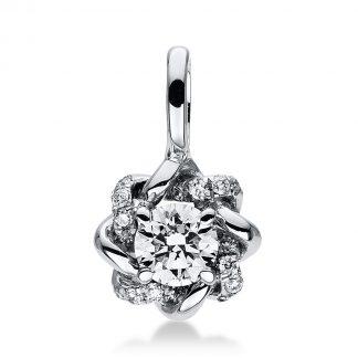 14 kt fehérarany medál 17 gyémánttal 3D708W4-1
