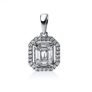 14 kt fehérarany medál 35 gyémánttal 3C371W4-1