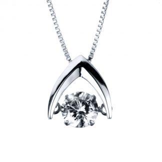14 kt fehérarany nyaklánc 1 gyémánttal 4A090W4-1