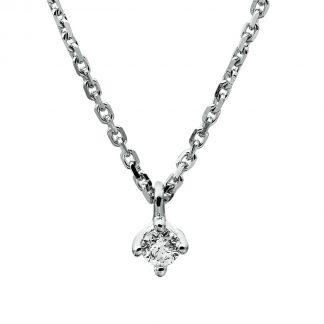 14 kt fehérarany nyaklánc 1 gyémánttal 4A305W4-9