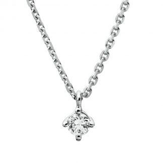 14 kt fehérarany nyaklánc 1 gyémánttal 4A307W4-1