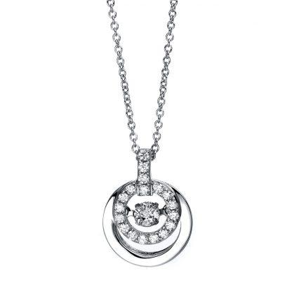 14 kt fehérarany nyaklánc 19 gyémánttal 4C122W4-1