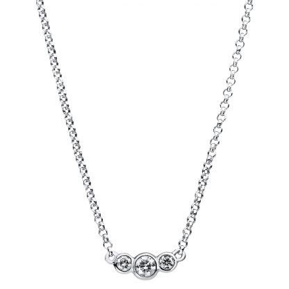 14 kt fehérarany nyaklánc 3 gyémánttal 4A842W4-3