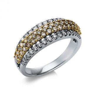 14 kt fehérarany / sárga arany pavé 86 gyémánttal 1T696WG454-1