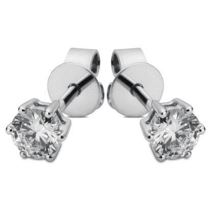 14 kt fehérarany steckeres 2 gyémánttal 2B425W4-1