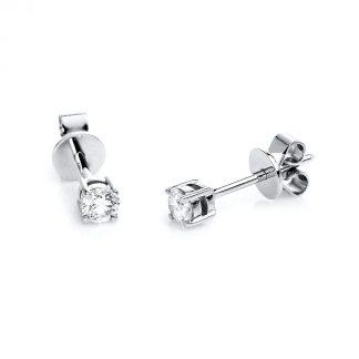 14 kt fehérarany steckeres 2 gyémánttal 2B431W4-1
