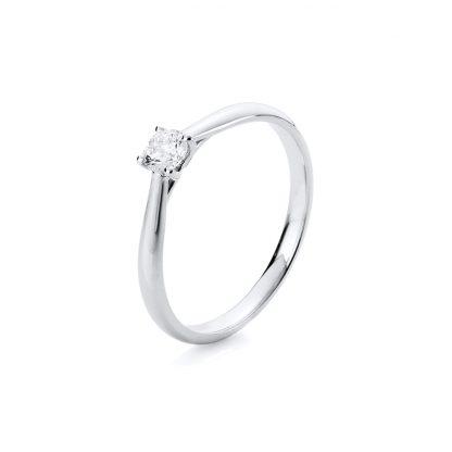 14 kt fehérarany szoliter 1 gyémánttal 1A290W456-7