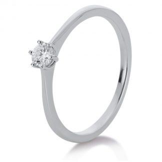 14 kt fehérarany szoliter 1 gyémánttal 1A330W456-1