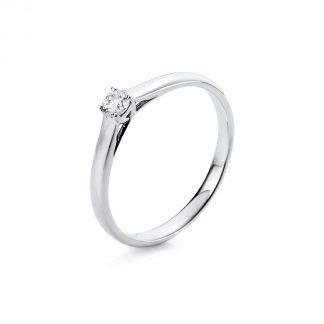 14 kt fehérarany szoliter 1 gyémánttal 1A440W453-7