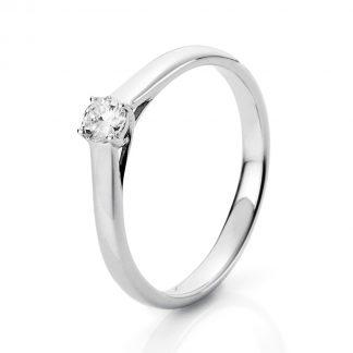 14 kt fehérarany szoliter 1 gyémánttal 1A441W450-1