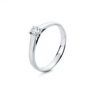 14 kt fehérarany szoliter 1 gyémánttal 1A442W450-1