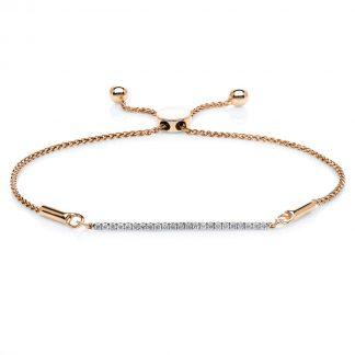 14 kt red gold bracelet with 23 diamonds 5A668R4-3