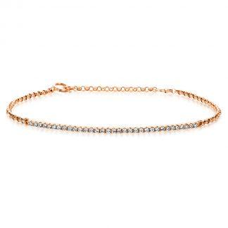14 kt red gold bracelet with 33 diamonds 5A024R4-1