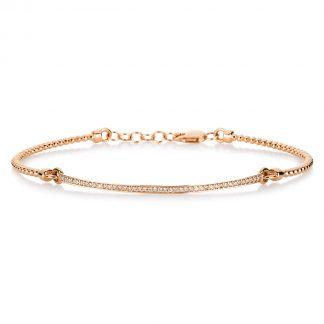 14 kt red gold bracelet with 43 diamonds 5A234R4-2