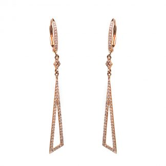14 kt red gold earrings with 124 diamonds 2D415R4-3