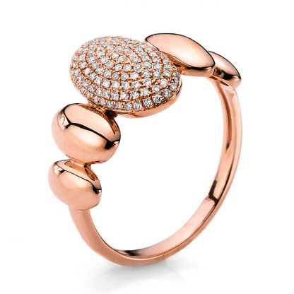 14 kt red gold pavé with 114 diamonds 1B672R453-1
