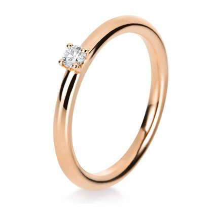 14 kt red gold solitaire with 1 diamond 1A408R452-1