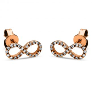 14 kt red gold studs with 46 diamonds 2I704R4-1
