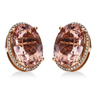 14 kt red gold studs with 88 diamonds