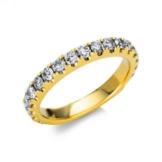 14 kt sárga arany félig köves eternity 20 gyémánttal 1U234G454-2