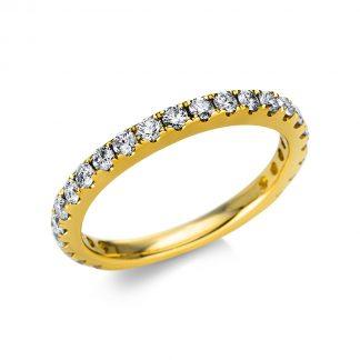 14 kt sárga arany félig köves eternity 23 gyémánttal 1U233G454-1