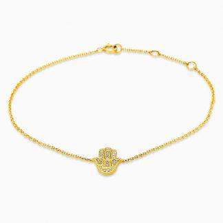 14 kt sárga arany karkötő 18 gyémánttal 5C030G4-1