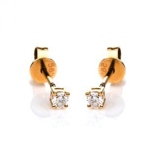 14 kt sárga arany steckeres 2 gyémánttal 2D506G4-2
