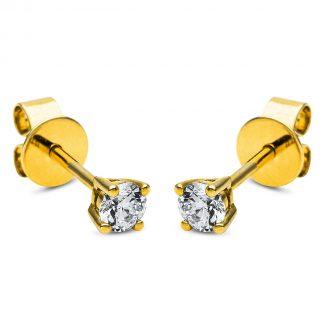 14 kt sárga arany steckeres 2 gyémánttal 2I710G4-1
