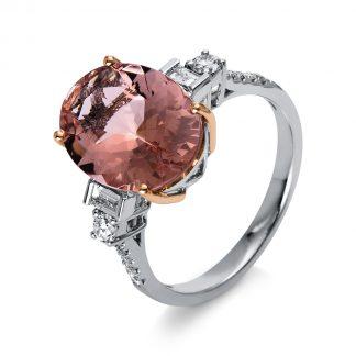 14 kt  színes drágakő 14 gyémánttal