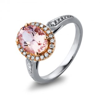 14 kt  színes drágakő 38 gyémánttal