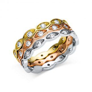 14 kt  több köves gyűrű 36 gyémánttal 1U110T451-1