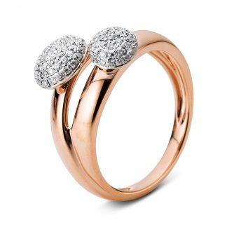 14 kt vörös arany / fehérarany pavé 92 gyémánttal 1B646RW4535-1